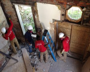 Easter Seals - interior of home in progress