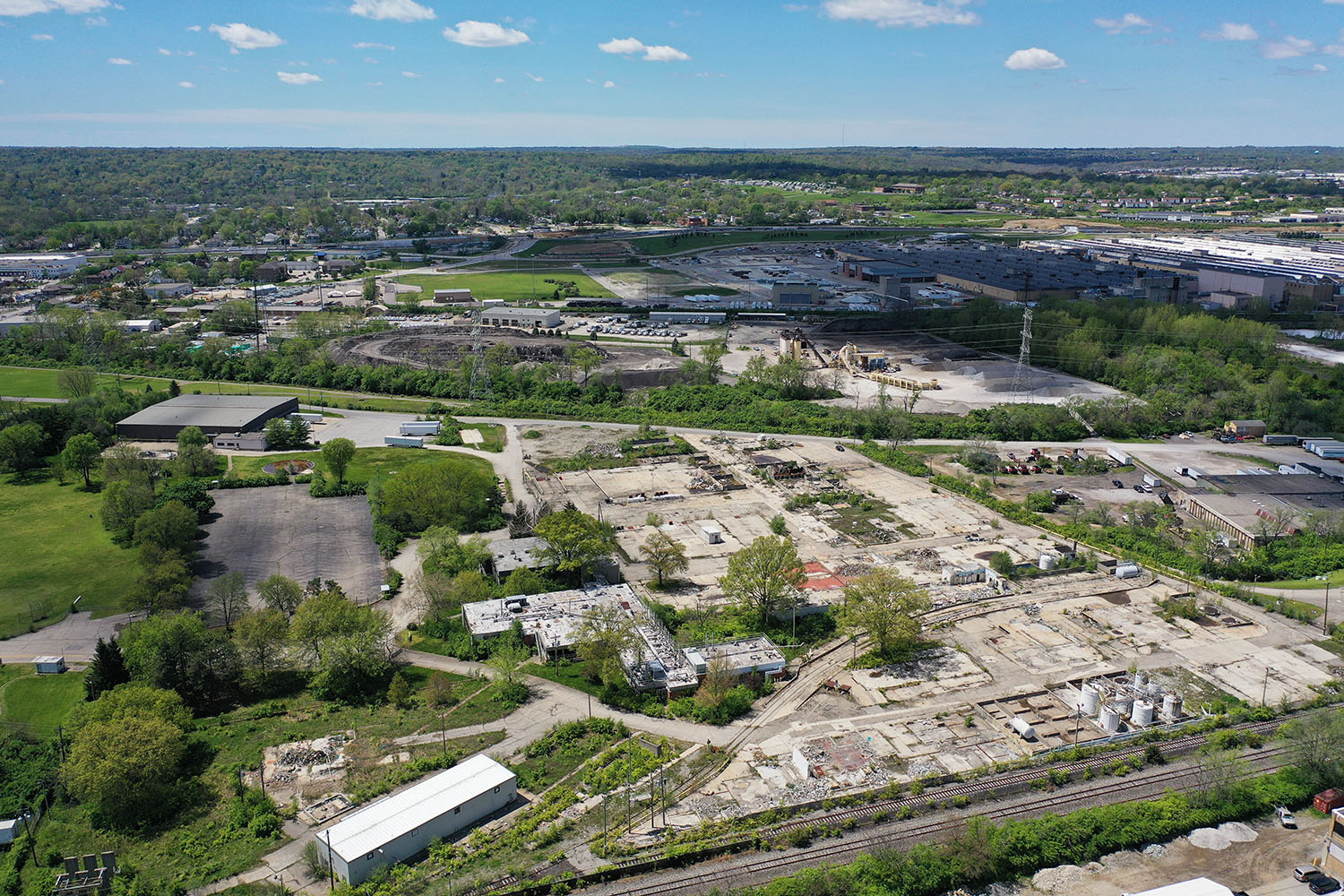 Aerial view of former Dow Chemical in Reading Ohio