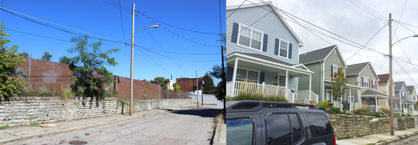 REACH Walnut Hills - Morgan Street before and after